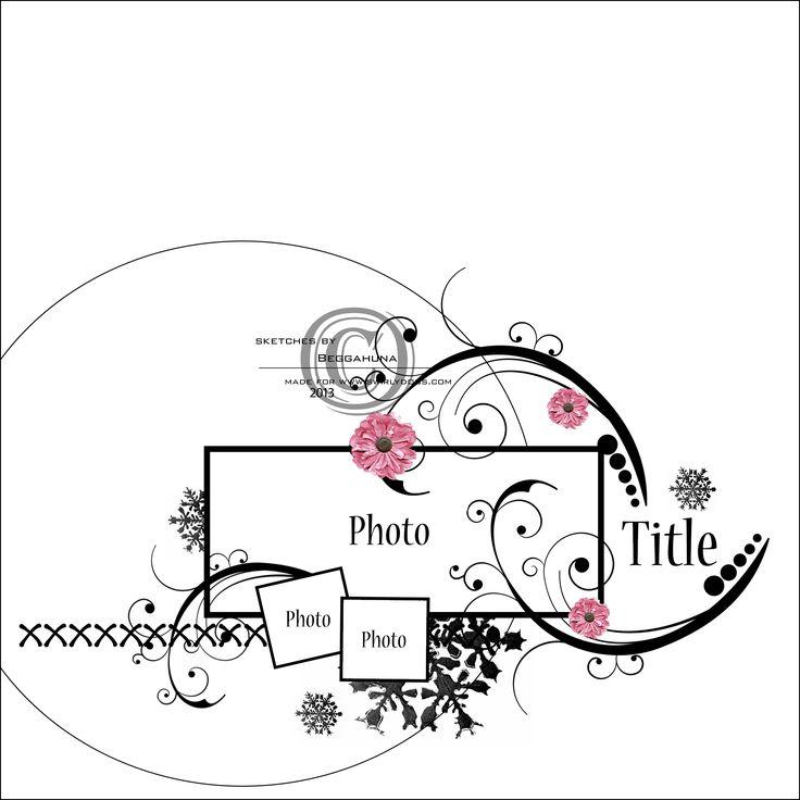 Autumn Rose Sketch - Scrapbook.com