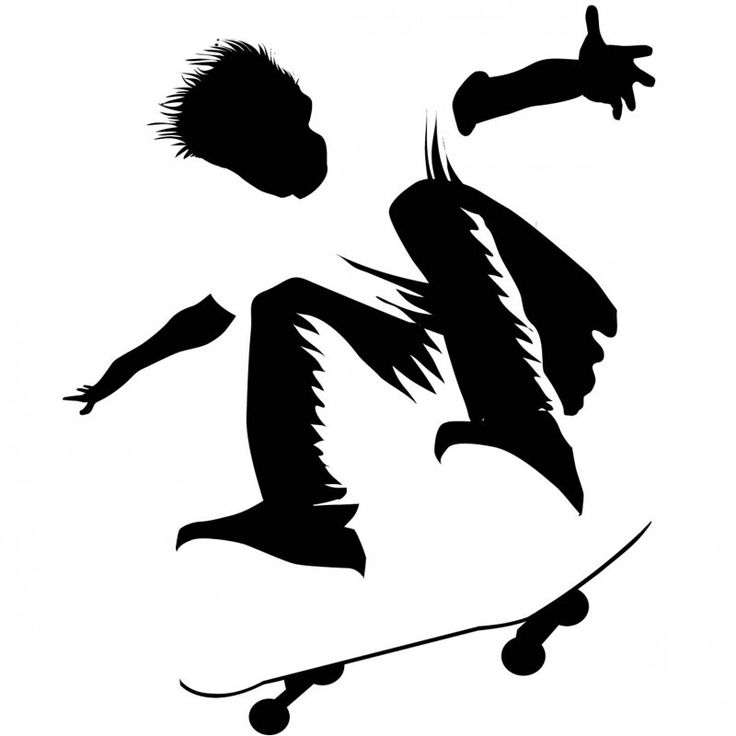 DIY Silhouette of The Perfect Skater Boy Template/ Stencil/ Sjabloon/ Transfer. Great for a boys room, but also as print for a 'boy/hangout youngmancave' as mural! ...and lots of other projects like journals, scrapping, card making.....and more!
