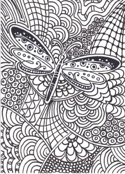 Dragonfly zentangle