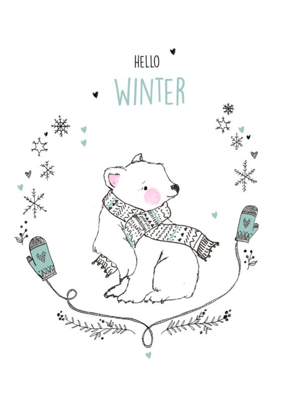 Marieke ten Berge 'Kaart Hello Winter Beer'
