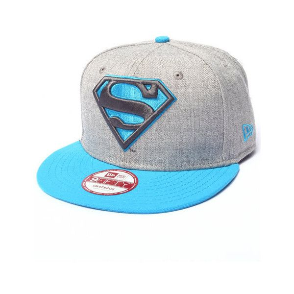 superman hero heather pop snapback hat by New Era ❤ liked on Polyvore featuring accessories, hats, superman hat, superman snapback hats, superman snapback, snap back hats and snapback hats