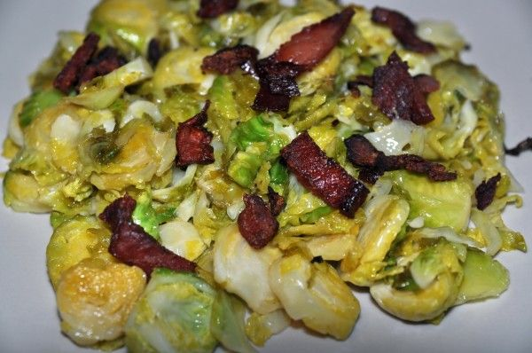 Brussel Sprouts with Crispy Prosciutto