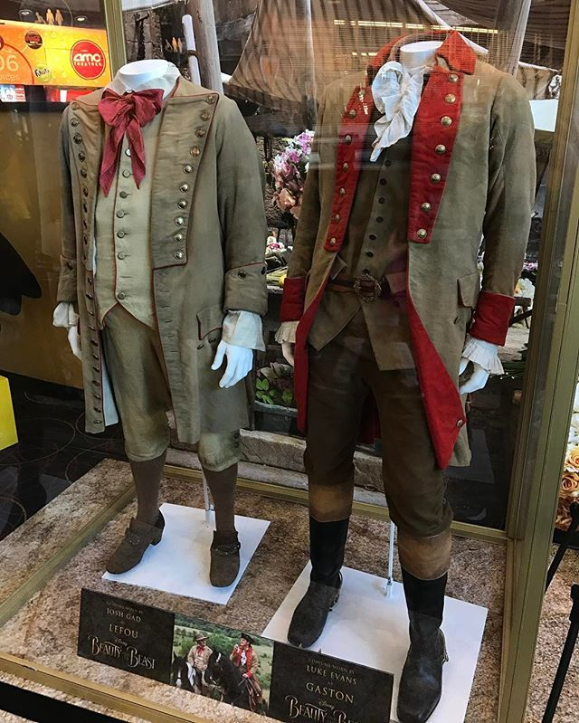 LeFou (@joshgad) and Gaston's (@thereallukeevans) costumes are now on display at @amctheatres in @disneysprings. #beautyandthebeast #batb #disney #emmawatson #danstevens #lukeevans #joshgad #ewanmcgregor #emmathompson #ianmckellen #gugumbatharaw #audramcdonald #stanleytucci #kevinkline #billcondon #beautyandthebeast2017 #taleasoldastime #beourguest #beautyisfoundwithin #wdw #waltdisneyworld #disneysprings #gaston #lefou