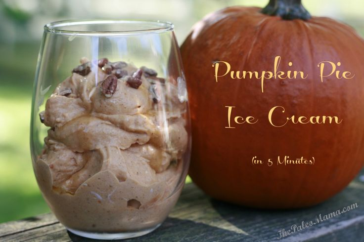 Pumpkin Pie Ice Cream in 5 Minutes (dairy-free and no ice cream maker needed) | The Paleo Mama