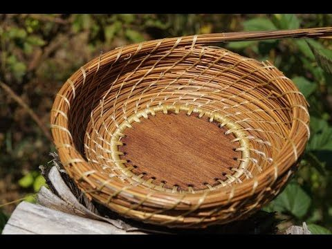How to do the Spiral Stitch in Pine Needle Baskets Video Tutorial