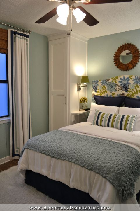For those who have a little bedroom, you can make it look a bit larger than it really is by selecting the most suitable colors. Small Condo, Small Budget Bedroom Makeover - Before