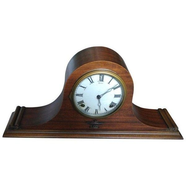 Ingraham Humpback Magic Duplex Wood & Mantle Clock ($175) ❤ liked on Polyvore featuring home, home decor, clocks, antique wooden clocks, wood mantel clock, table alarm clock, wooden alarm clock and antique desk clock