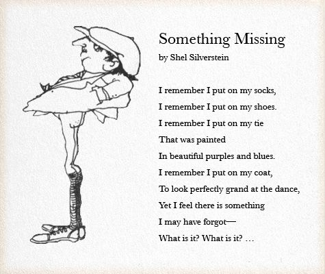 something missing shel silverstein - one of my favorite childhood poems