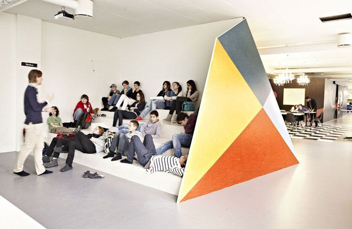 Rosan Bosch has created an inspiring setting for students and teachers at the Vittra school in the Stockholm district of Södermalm | Mountain | Photo: Kim Wendt