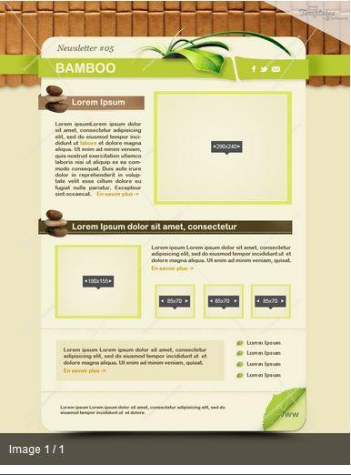 ¿Tienes un negocio de productos ecológicos? Esta es la plantilla ideal para tu newsletter. Incluye maqueta en .psd, integración HTML / CSS. Anchura fija de 800px, Css inline. Descubre todos sus detalles en: https://es.mailify.com/studio-diseno-newsletter.asp