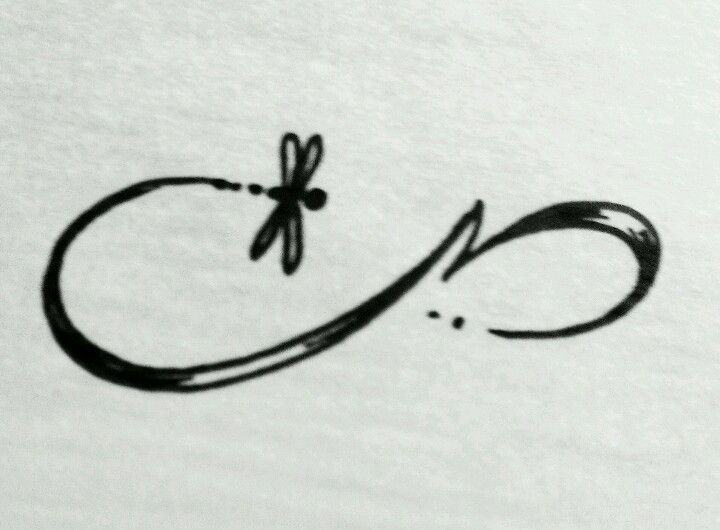 Infinity dragonfly tattoo design!!!  Hmm. Maybe with color and the word hope
