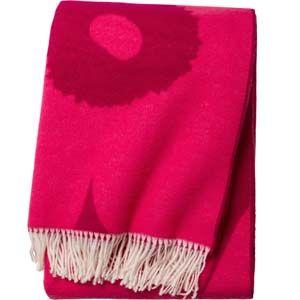 Marimekko Unikko blanket red