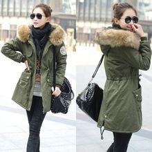 2015 zimowa kurtka damska Kurtki watowe średniej długości plus size oliwek grube bawełny kurtka żakiet L-4XL RY388 (Chiny (kontynentalne))