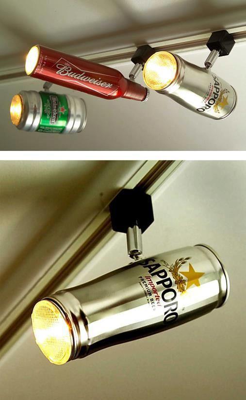 Riciclo creativo bottiglie e lattine di latta