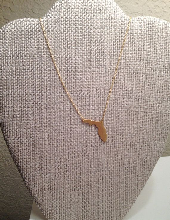 Solid State of Florida Gold Necklace UF FSU $15