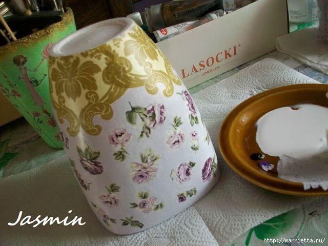 Стильная цветочная ваза из глиняного горшка (3) (640x480, 176Kb)