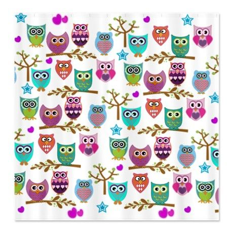 owl shower curtain art and decor pinterest