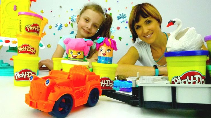 Дети и родители: игры для детей с пластилином Плей До. Детское творчеств...