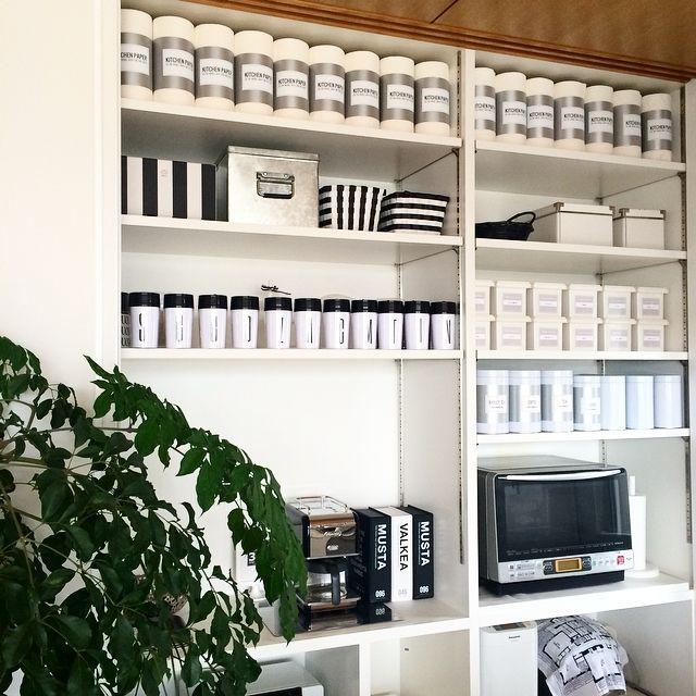IKEA/ダイソー/整理収納部 /ラベル/グレーインテリア/キッチン収納…などのインテリア実例 - 2015-04-07 11:46:02 | RoomClip(ルームクリップ)