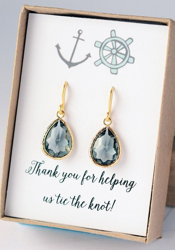 Bridesmaid Gray Earrings Jewelry Bridesmaid Gifts by LimonBijoux