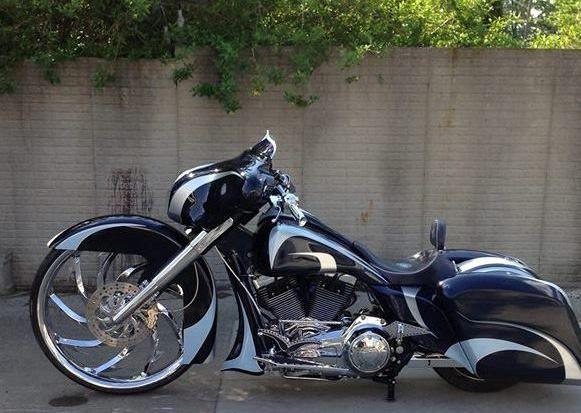 Black Custom Bagger | Motorcycle | Totally Rad Choppers