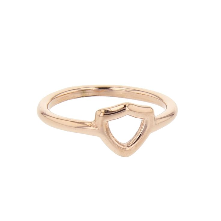 Rose Gold Open Shield CTR Ring   CTR Rings on LDSBookstore.com (#LDP-RNGOS55)