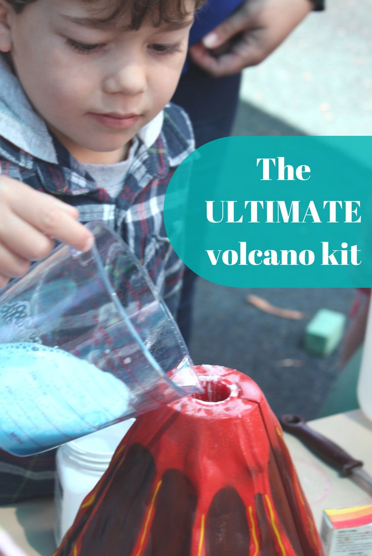 When you're teaching your children or class about volcanoes play is without a doubt the best way to do it! Use this kit over and over again, and experiment with different coloured lava...