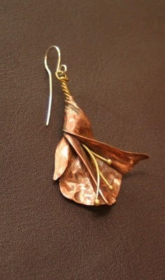 the Silver Strumpet™: Fold Formed & Repousse Earring