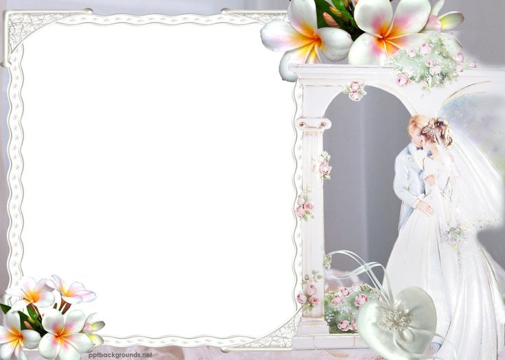 Wedding couples border, marry, flowers Backgrounds powerpoint backgrounds