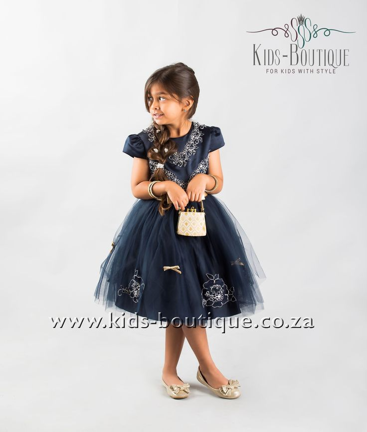 Navy & Gold Tulle Dress