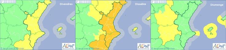 L'Aemet decreta l'avís de nivell groc per risc de fortes pluges