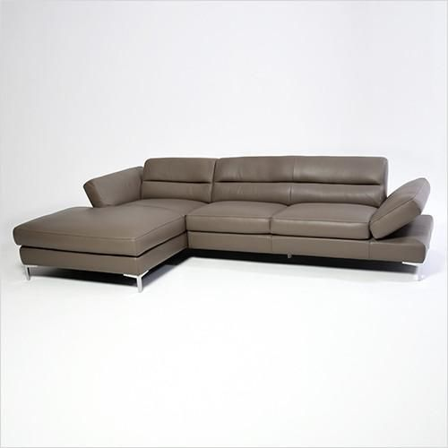 manta tab2 sectional leather sofa with ratchet arms scan design furniture modern