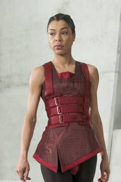 Sophie Okonedo as Sithandra in ``Aeon Flux.''  I really like this costume