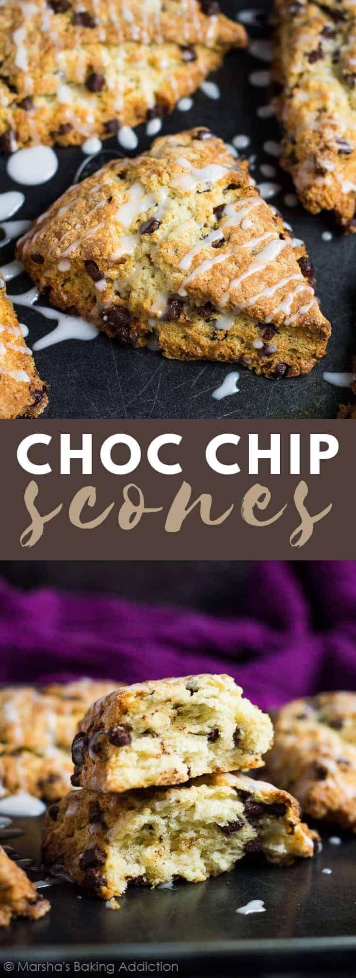 Scones aux pépites de chocolat – Scones à la vanille délicieusement moelleux, moelleux et …   – Baked goods not cakes