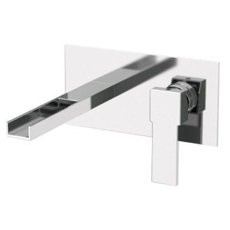 Remer QC15US Rectangular Built In Basin Mixer With Waterfall Spout. Wall  Mounted SinkWall Mount FaucetBathroom ...