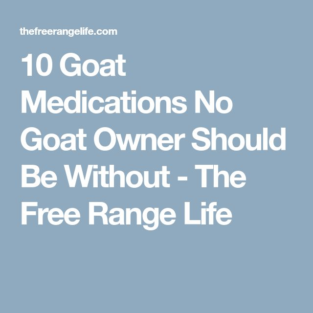 10 Goat Medications No Goat Owner Should Be Without - The Free Range Life