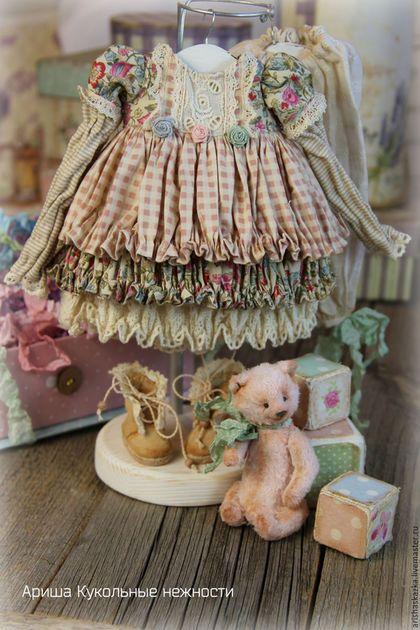 Одежда для кукол ручной работы. Одежда  для кукол , стиль бохо , шебби шик. Кукольные нежности от Ариши. Интернет-магазин Ярмарка Мастеров.