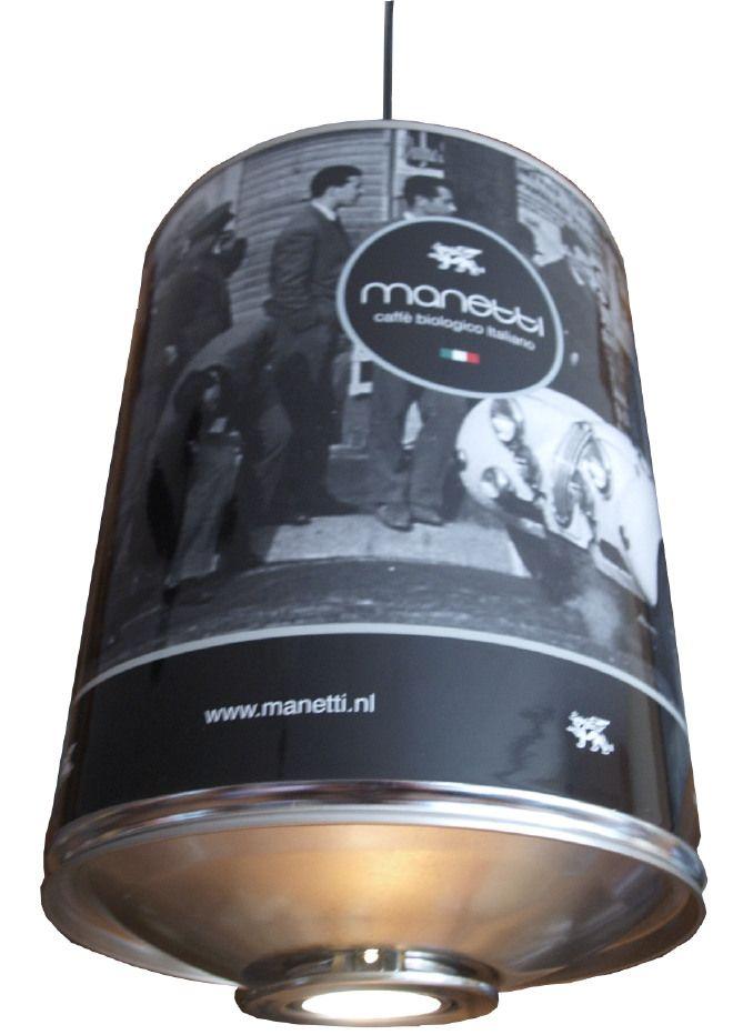 Lampada Barattolo Caffe - CATANIA - Manetti Caffe Nero Bianco