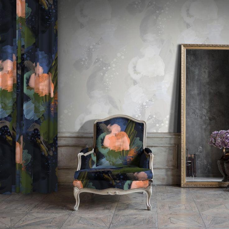 English Rose Velvet Fabric (Midnight) on Feathr.com