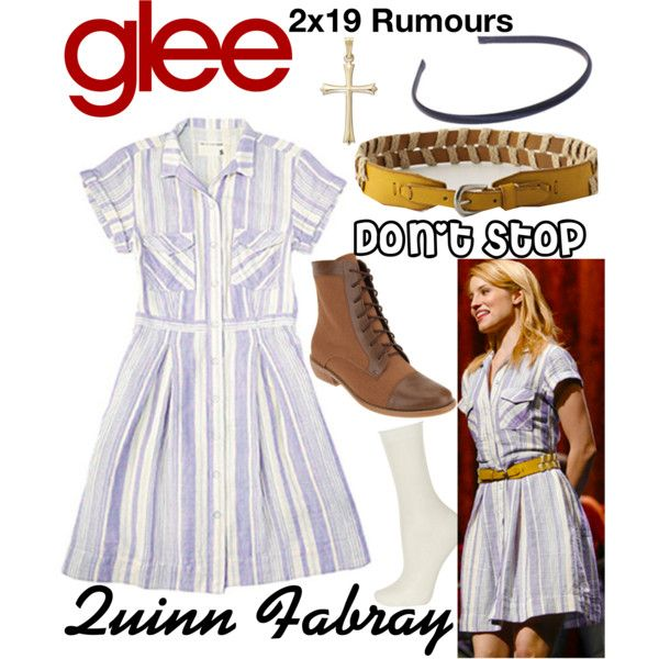 Quinn Fabray (Glee) : Don't Stop by aure26 on Polyvore featuring mode, Falke and glee