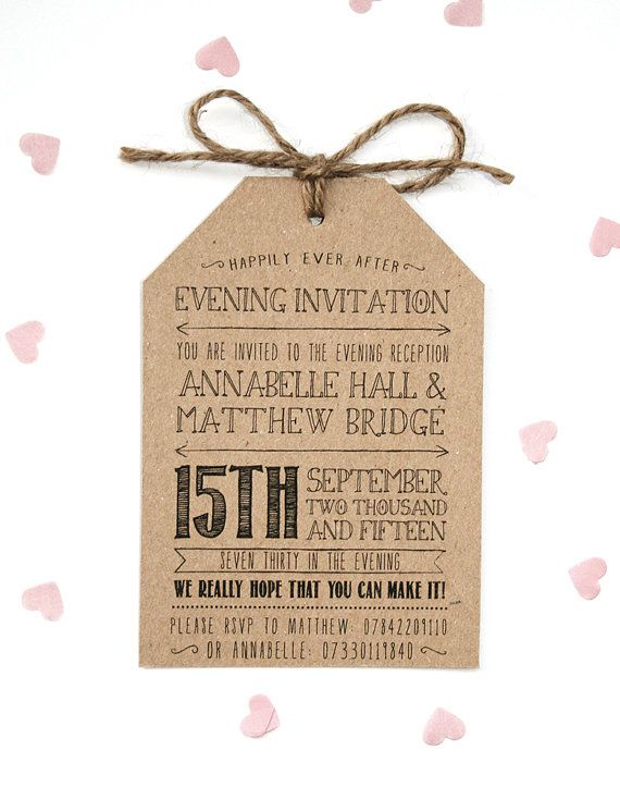 Rustic Wedding Kraft and Lace Small Evening by LittleIndieStudio