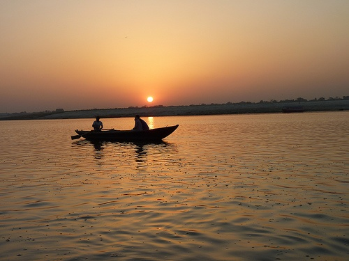 Sunrise over the Ganges in Varanasi, the spiritual heart of Hindu and Buddhist culture