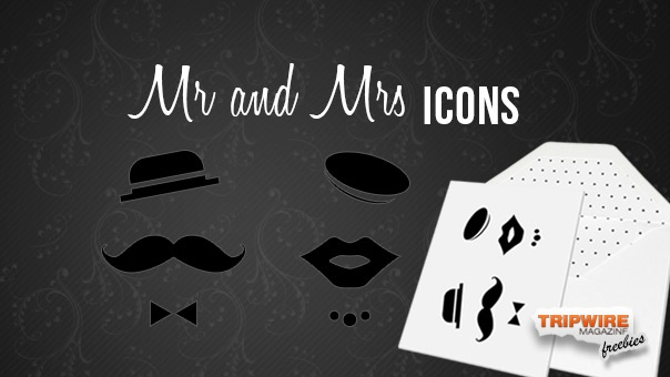 Mr and Mrs vector icons are perfect for anniversary wedding celebrations and also at theme parties.