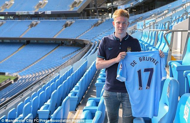 Kevin De Bruyne (BEL) - From Wolfsburg (GER) to Manchester City (ENG) - £52million - 2015