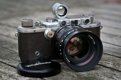 Leica with Voitländer 50mm f1.5 lens