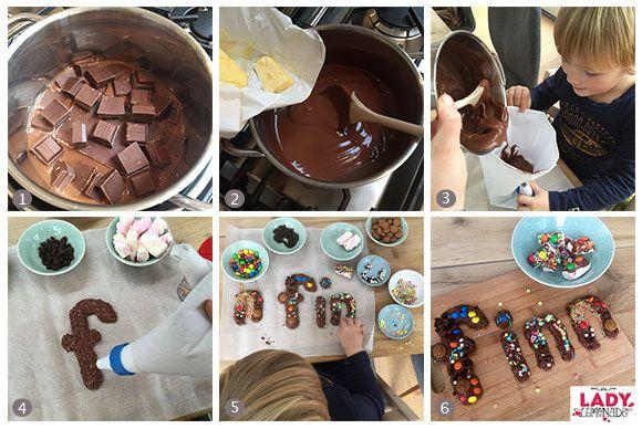 500gr chocolade + 100gr boter     recept-chocolade-letter-kind-maken-sinterklaas-ladylemonade_nl2