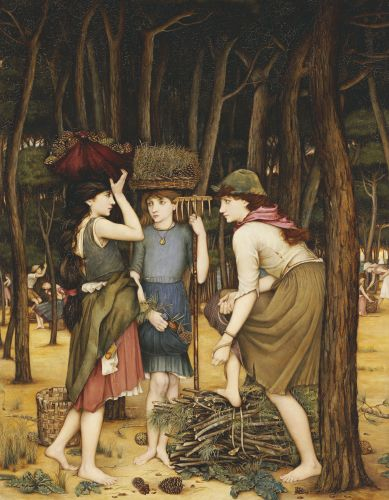 Pine Woods At Viareggio Art Print by John Roddam Spencer Stanhope Easyart.com: