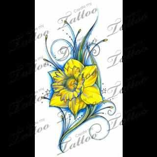 However I could also do this on my shoulder blad with natalees name put into it as well. Daffodil is March's (the month) flower.