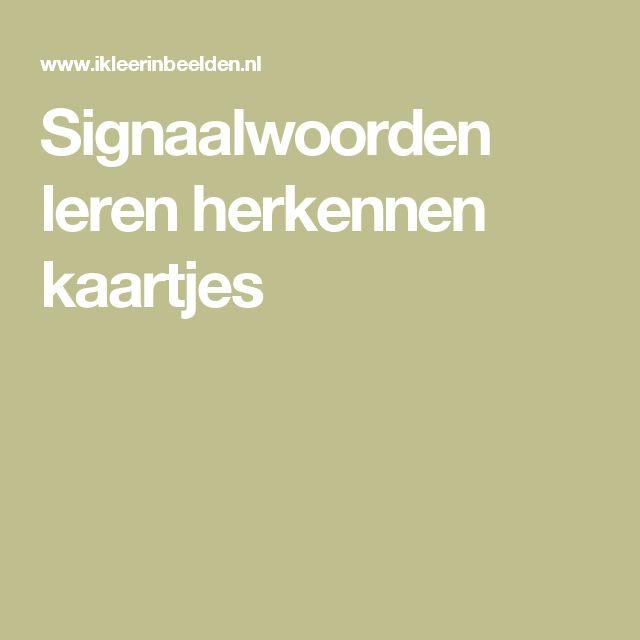 Signaalwoorden leren herkennen kaartjes