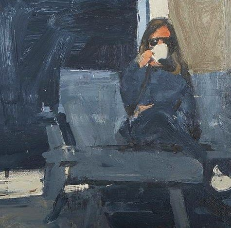 Ben Aronson, Coffee Break, 1997.The Artists, Coffe Breaking, Ben Aronson, Mornings Coffe, Coffee Breaking, Aronson Painting, Art Painting, Oil Painting, Art Artists